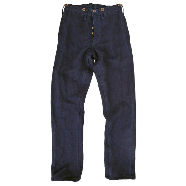 Le Vaillant Pants Indigo HBT Cotton/Linen.