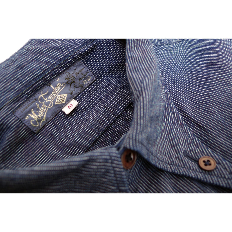 Liquette M35 Indigo Pin Stripe Ticking