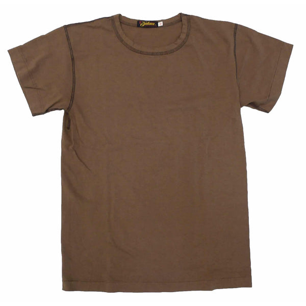 Mister Freedom® SKIVVY T-shirt BROWN 436, vintage inspired tubular knit jersey tee, available in Small, Medium, Large, X-Large, made in USA