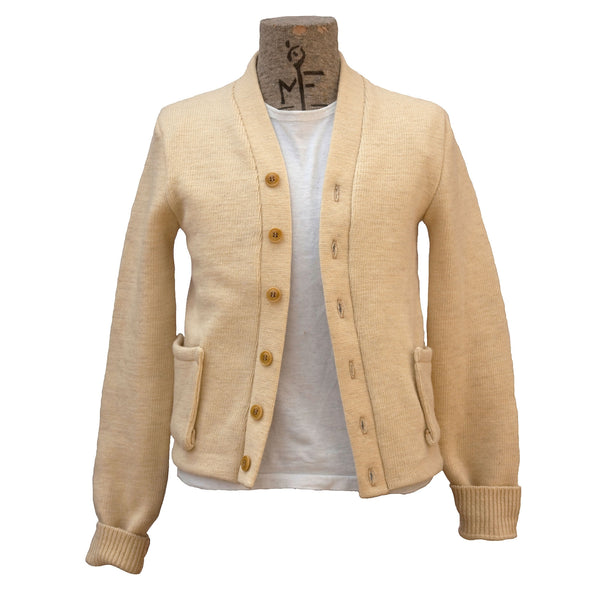 Campus Cardigan - Natural Wool