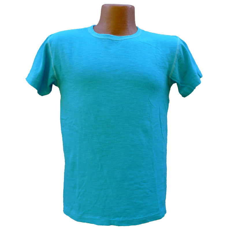 Mister Freedom® STANLEY T-shirt AQUA, vintage inspired tubular knit jersey tee, available in Small, Medium, Large, X-Large, made in USA