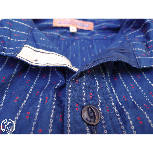 Ranchero Shirt - Indigo Calico