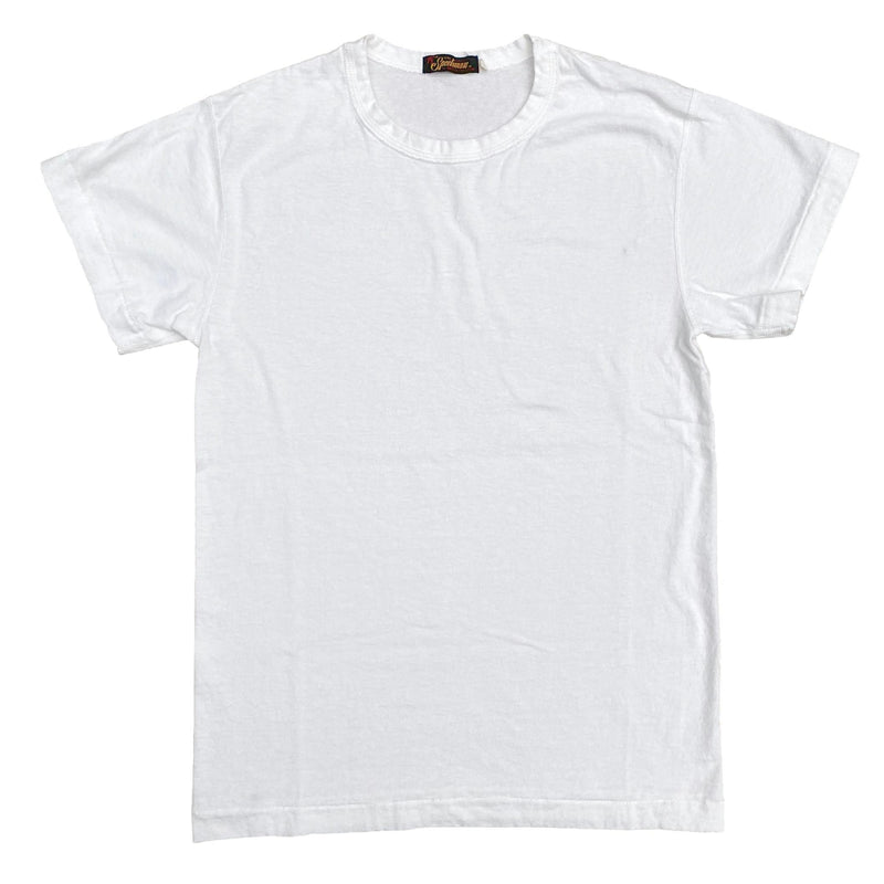 Mister Freedom® SKIVVY T-shirt WHITE, vintage inspired tubular knit jersey tee, available in Small, Medium, Large, X-Large, made in USA