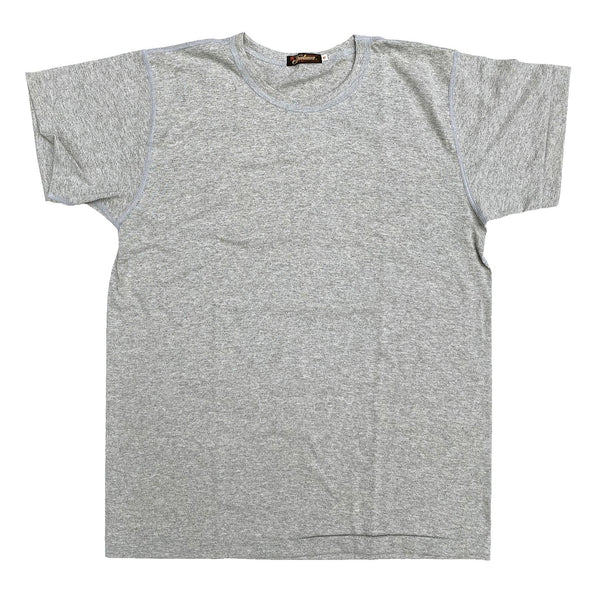 Mister Freedom® SKIVVY T-shirt HEATHER GREY, vintage inspired tubular knit jersey tee, available in Small, Medium, Large, X-Large, made in USA