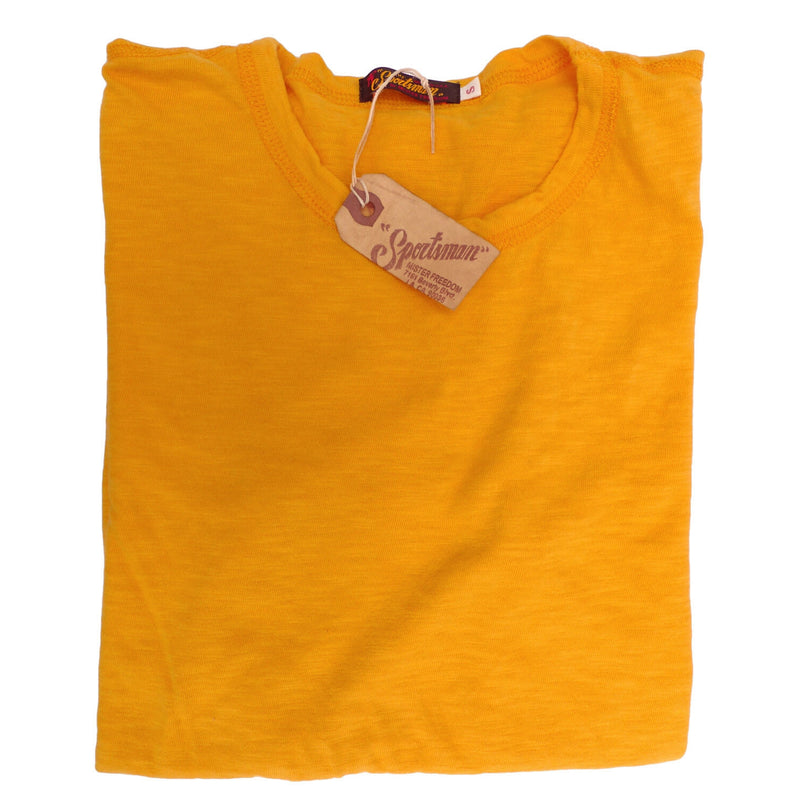 Mister Freedom® STANLEY T-shirt GOLD, vintage inspired tubular knit jersey tee, available in Small, Medium, Large, X-Large, made in USA