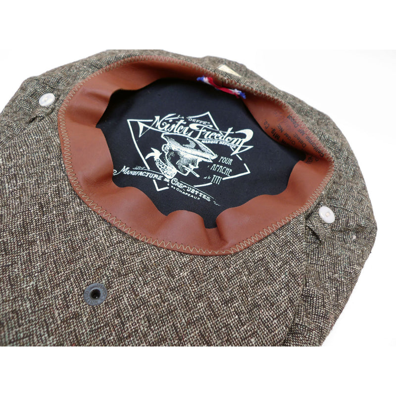 Casquette La Deffe - Brown HBT Tweed