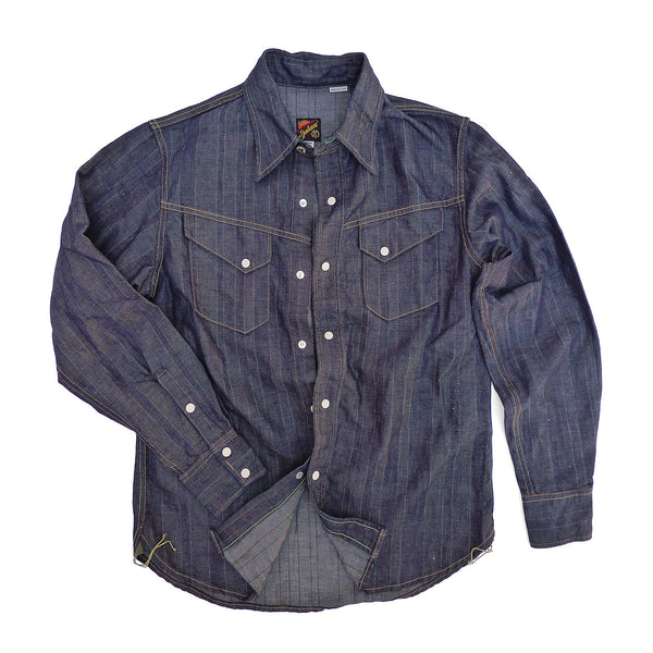 Appaloosa Shirt - NOS HBT Stripe Denim