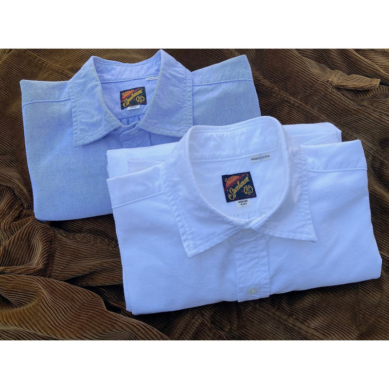 Aristocrat Shirt oxford cloth blue and white