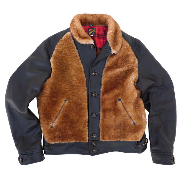 "Baloo Jacket An original pattern inspired by 1930's sportswear 'Cossack' type unlined leather jackets, 1930's ""Grizzly"" type leather jackets, and other vintage sportswear and outdoor garments."