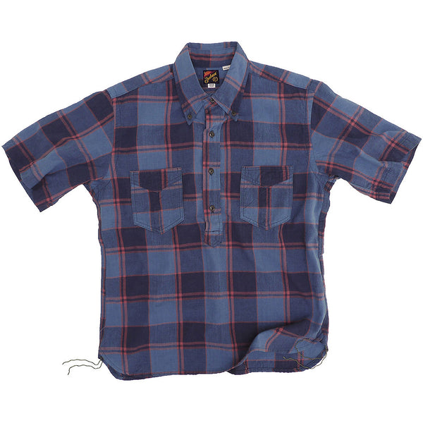 Berkeley Pull Over Shirt - Indigo Bleeding Madras