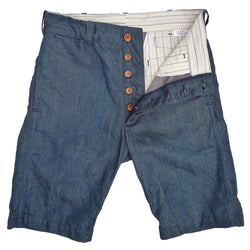 Continental Bermudas - Crosshatch Moss Denim