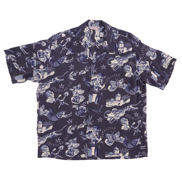 "Rock 'n' Roll Shirt ""Biribi"" - Navy"