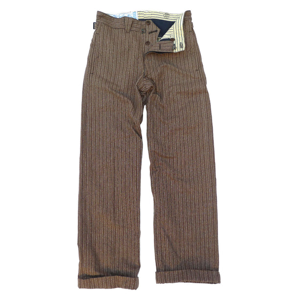 Le Pantalon Apache - Covert Brown Stripe