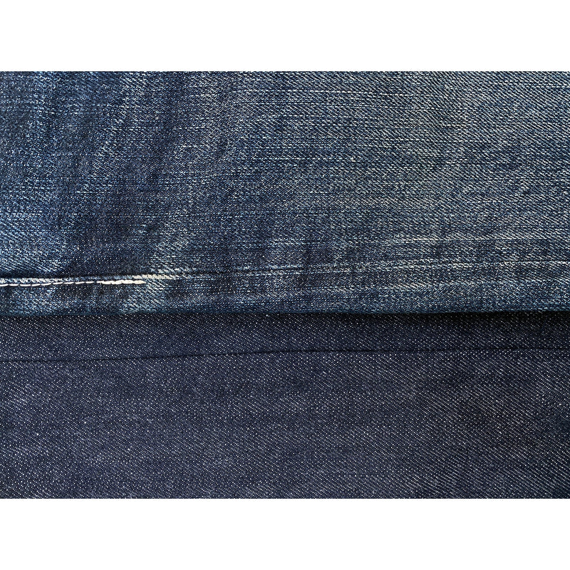 Denim train track fading. Denim milled in Japan.