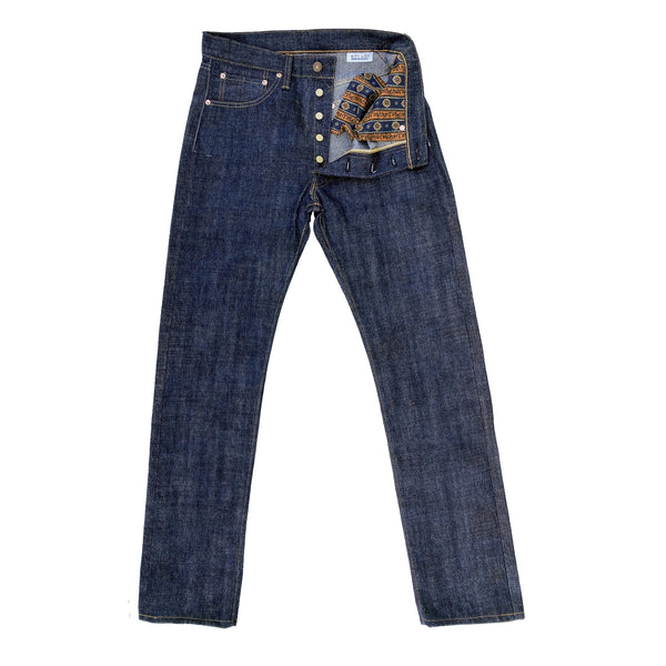 "CALIFORNIAN LOT. 674 - ""HAWAII"" DENIM PATTERN: Inspired by traditional 1950′s-1960's era blue jeans, traditional fit, slightly tapered stovepipe leg for a mid-60's vibe."