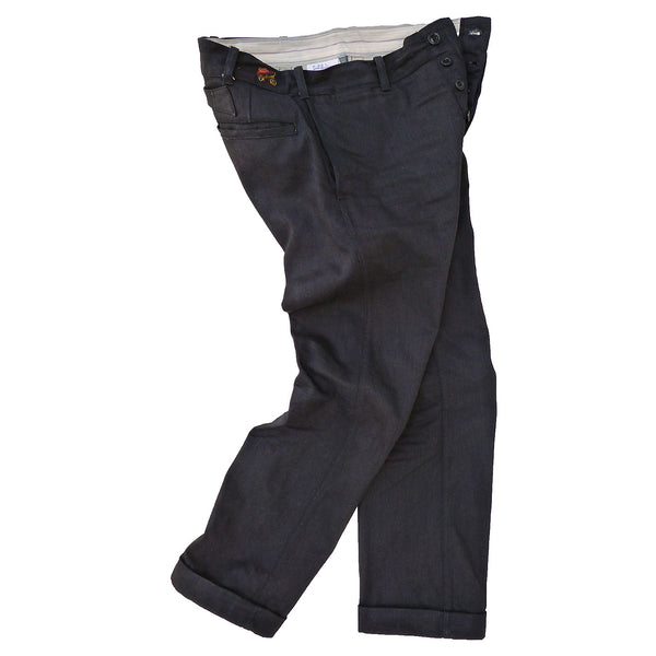 Continental Trousers - JC Black Coated Denim