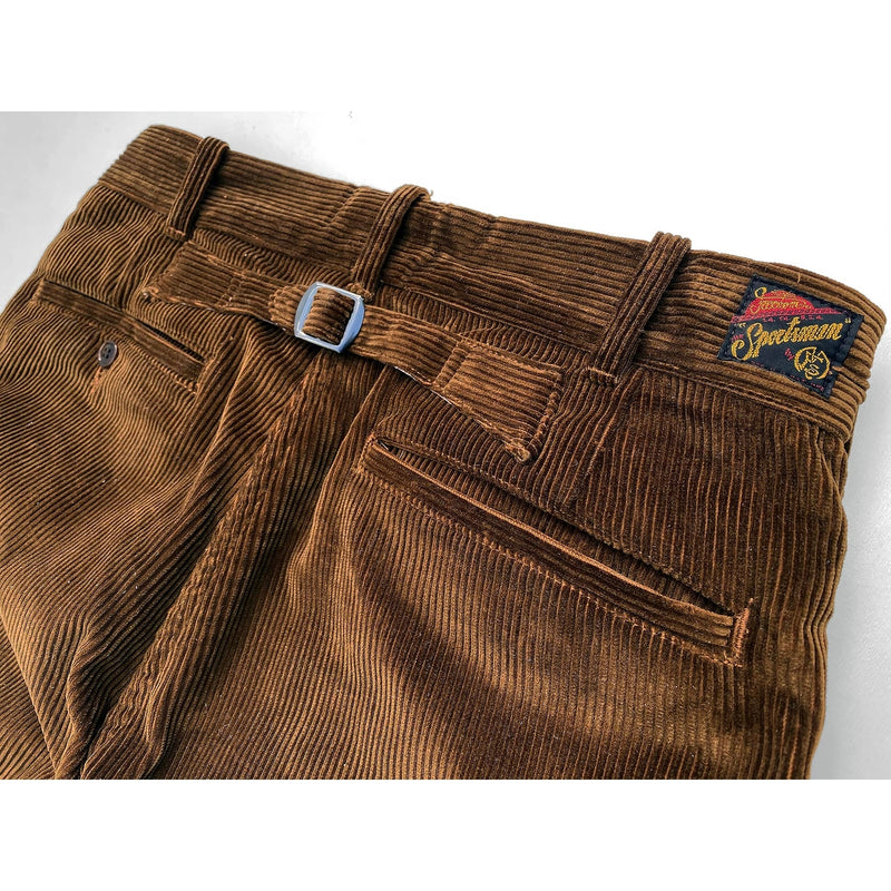 Continental Trousers Rear welt pockets and Adjustable back cinch strap, with vintage NOS metal slide buckles