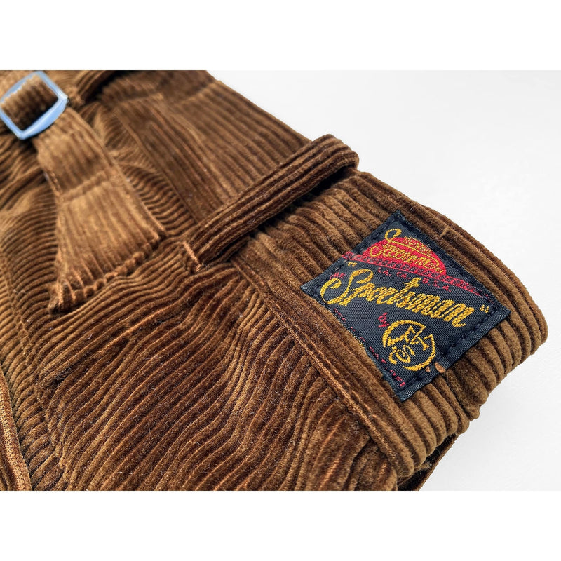 "Continental Trousers Original ""The SPORTSMAN"" woven rayon label on rear waistband, concealed when wearing a belt"