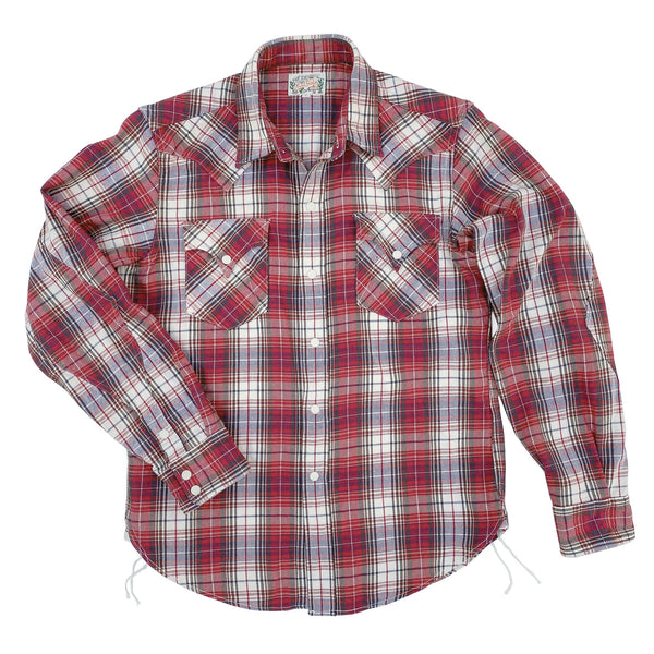 Dude Rancher Joan Plaid, An original mfsc pattern, inspired by traditional western-style shirts.