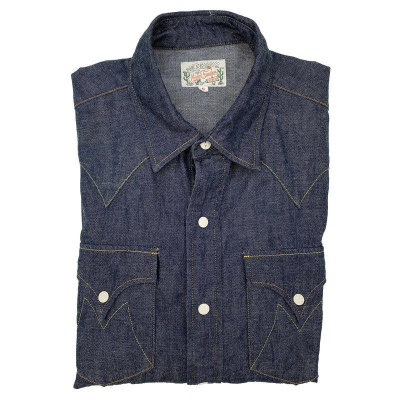 Dude Rancher Shirt Attractive pointy pocket flaps, complementing the yoke pattern.