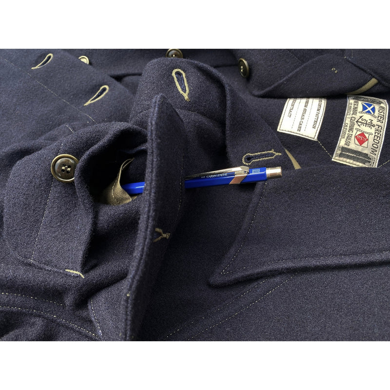 OD pen slot within chest pocket. MF51 Field Shirt from the made in Japan Waterfront Surplus Catalog.
