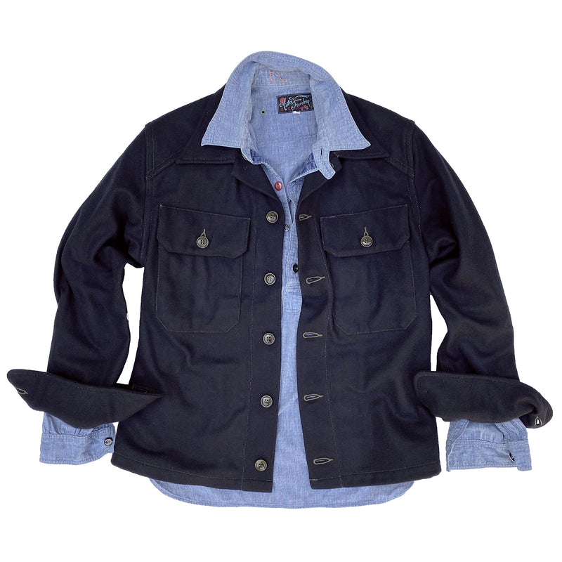 This shirt style is considered an overshirt and the garment is cut accordingly to accommodate layering.