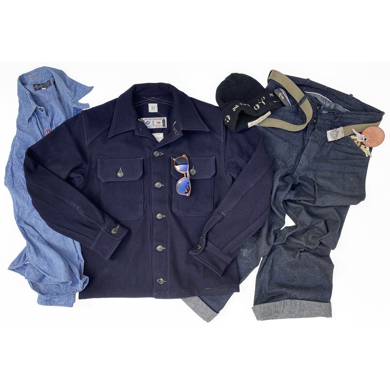 MF51 Field Shirt - Indigo Melton Wool