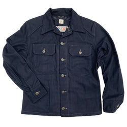 "Mister Freedom® MF51 Field Shirt, navy melton wool. mfsc FW2020 ""WATERFRONT SURPLUS"", SURPLUS catalog. Made in Japan."