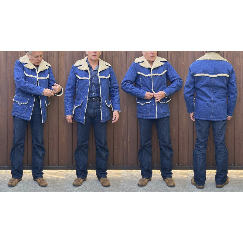 Maverick Jacket Malibu Edition fit pic with Mister Freedom® Californian Blue Jeans