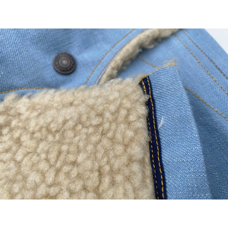 Ice-Blu and Faux shearling fur body lining attached at hem