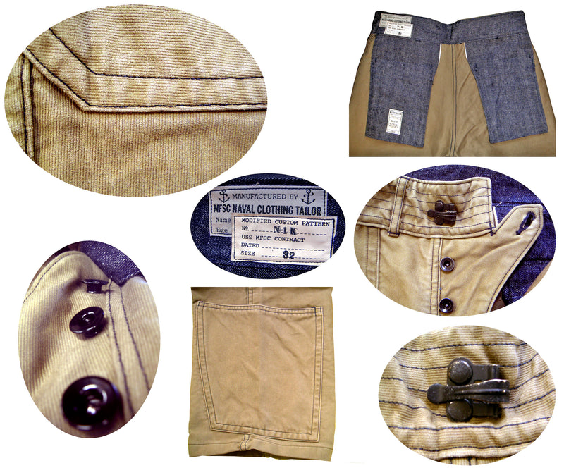 N1-K Deck Pants - Khaki Jungle Cloth