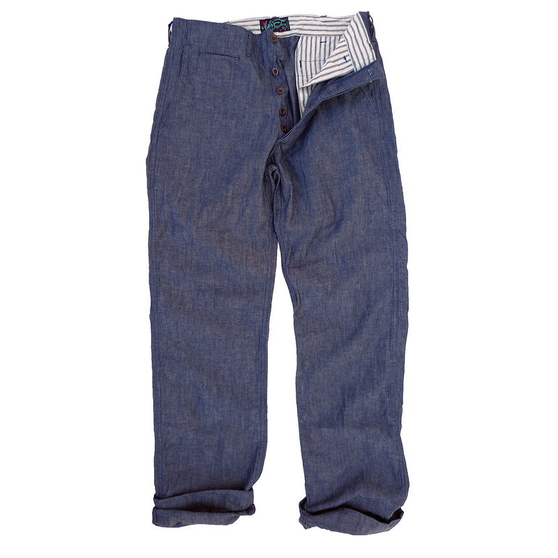 Naval Chinos Type No. 266ic - Chambray