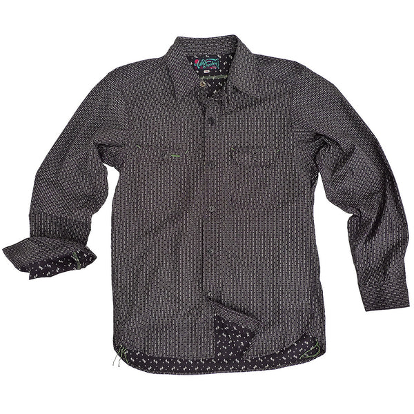 Nixon Shirt - Black Double Calico Twill