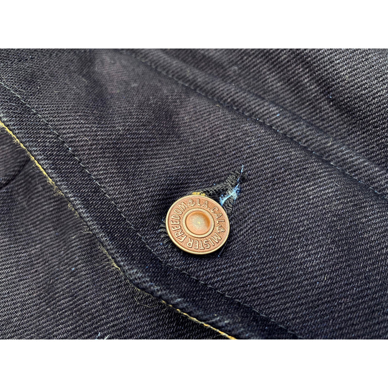 Pioneer Jacket Midnight Original MF® Californian Blue Jeans tack buttons, brass finish