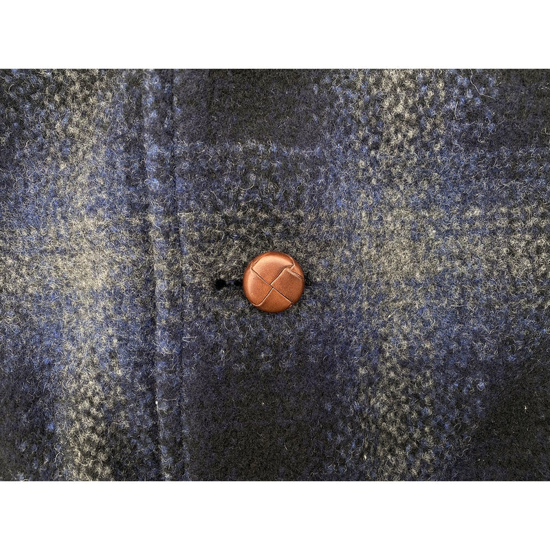 Pioneer Jacket Woven (genuine) leather shank buttons