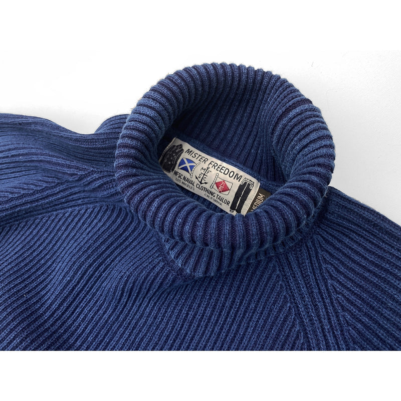 Privateer Roll-Neck - Indigo