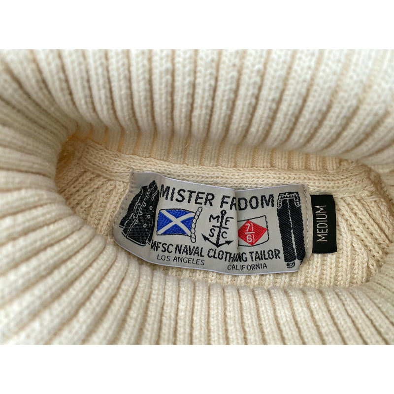 "Privateer Sweater Original mfsc ""Waterfront Surplus"" woven rayon label"