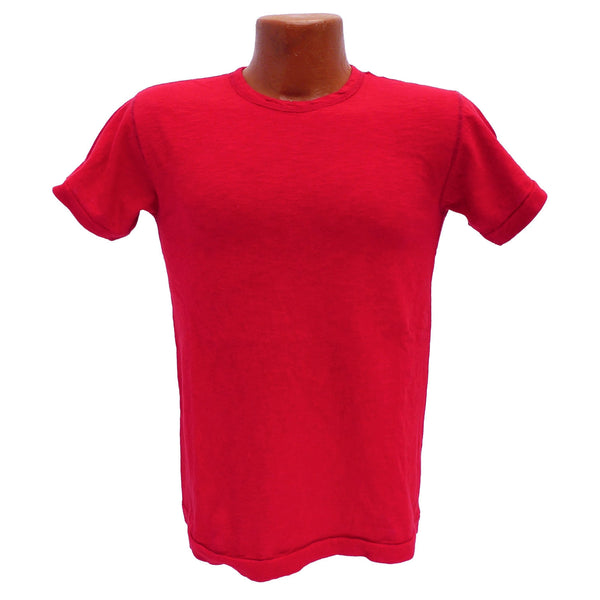 Mister Freedom® STANLEY T-shirt RED, vintage inspired tubular knit jersey tee, available in Small, Medium, Large, X-Large, made in USA
