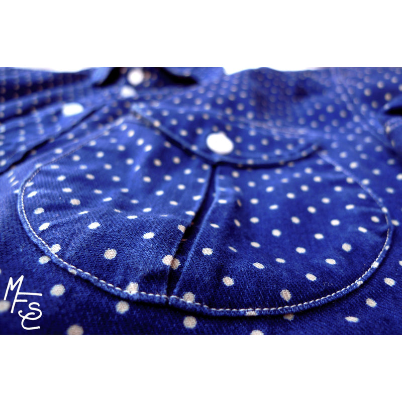 Reno Shirt - Indigo Dot Calico