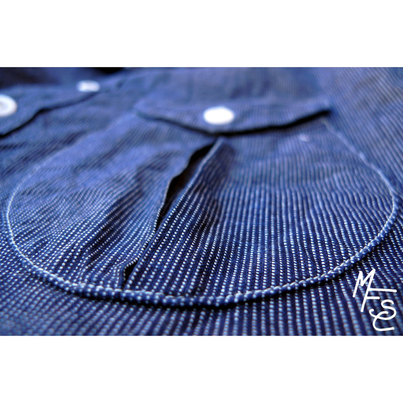 Reno Shirt - Indigo Ticking
