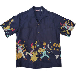 "Rock 'n' Roll Shirt ""Rocket 88"" -  Navy"