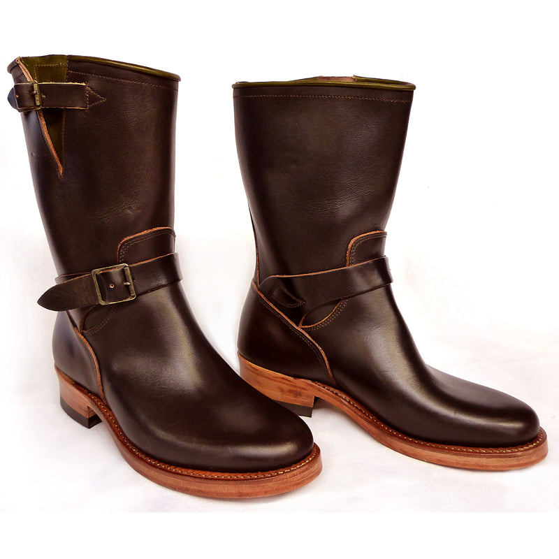 Road Champ - Brown Leather Boots