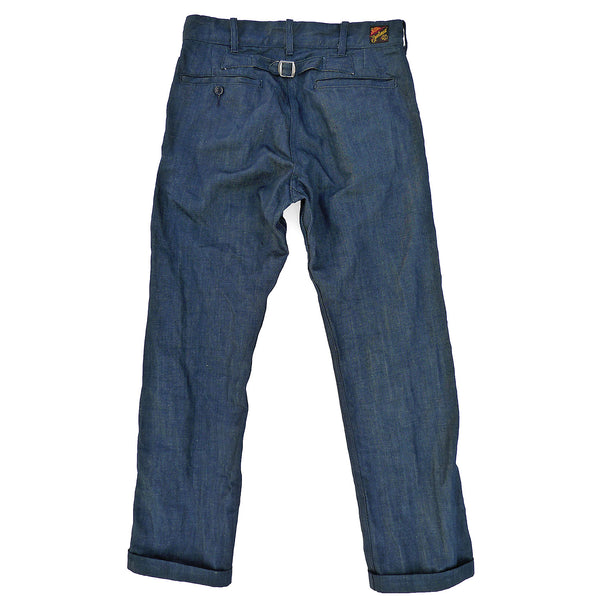 Continental Trousers - NOS Indigo Moss Denim