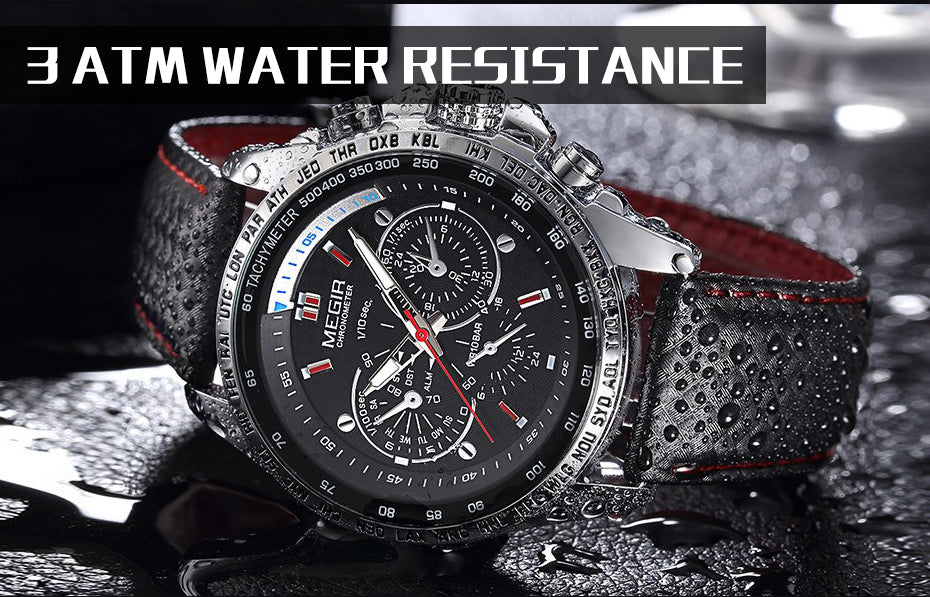 Sport & Casual  Watch Water Resistant
