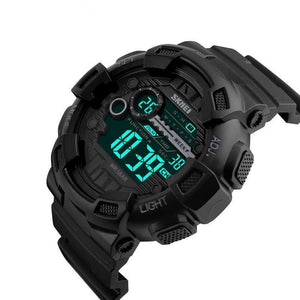 50M Waterproof  Digital Watch Back Light LED Chronograph