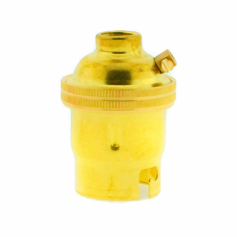 Brass 10mm Threaded Entry B22 Lamp/Light Bulb Holder
