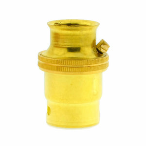 Brass 20mm Threaded Entry B22 Lamp/Light Bulb Holder for Galvanised Conduit