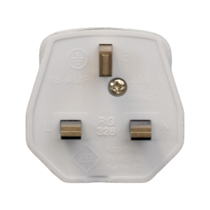 13A UK Plug with 3A Fuse - White