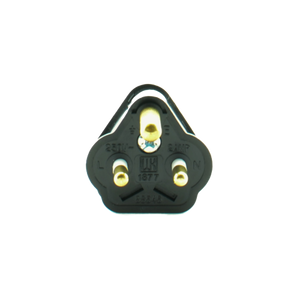2A Round Pin Mains Plug - Black