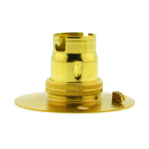 Brass BESA Batten Holder for B22 with Plain Skirt
